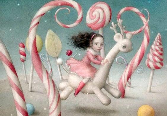 キャンディーの夢と女の子