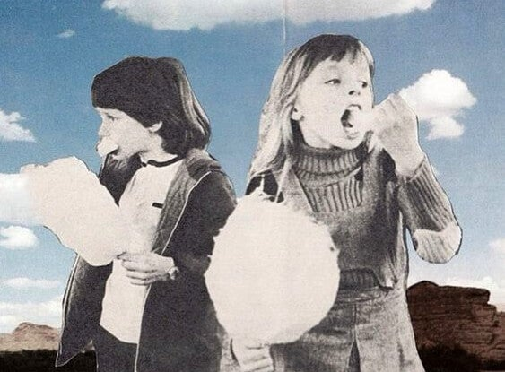 綿菓子と子ども