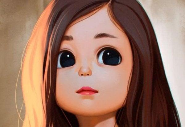 大きな目の少女