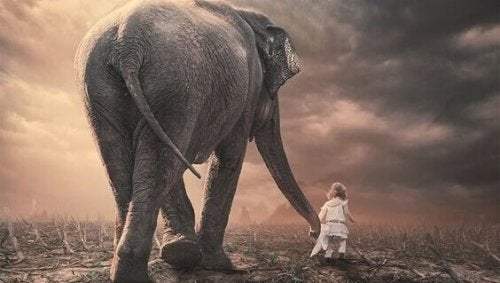 ゾウと少女