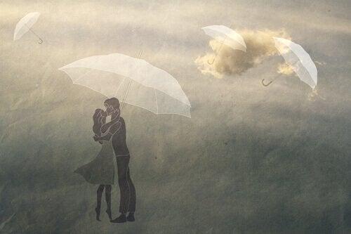 嵐の中キス