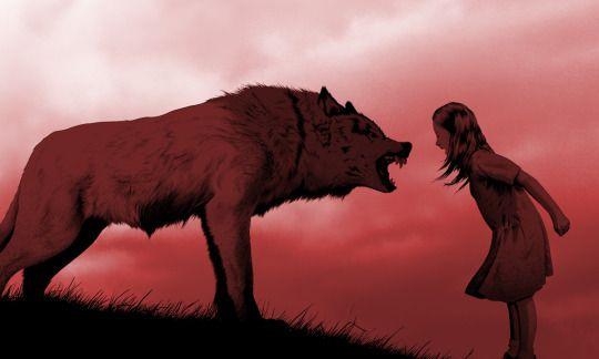 オオカミと少女