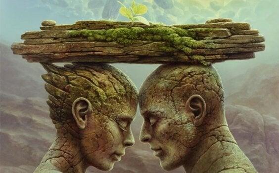 石像の二人