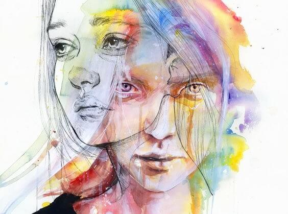 二つの女性の顔