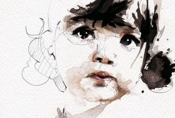 描き途中の少女