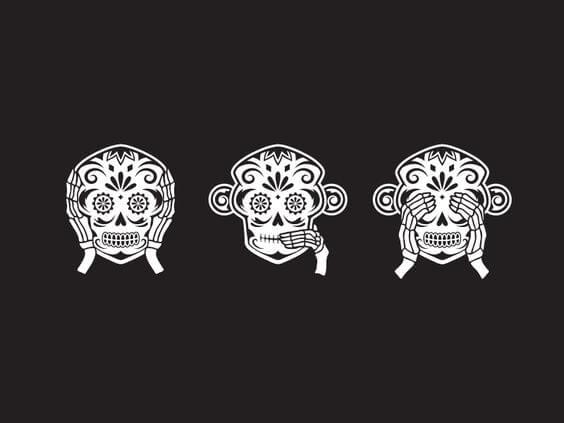 ドクロの三猿