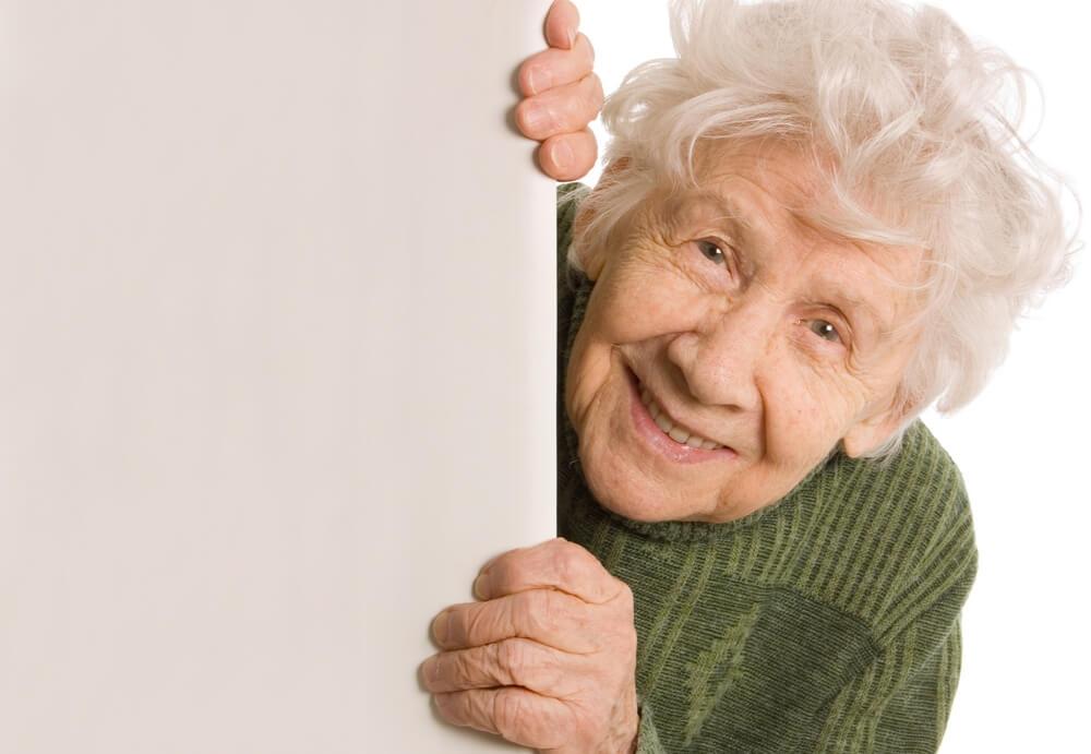 高齢女性の笑顔