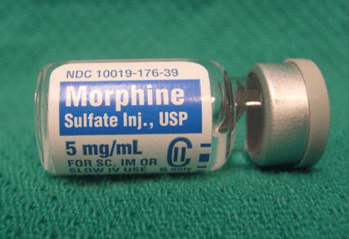 モルヒネの瓶