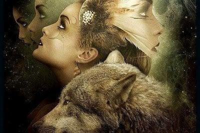 オオカミと女性
