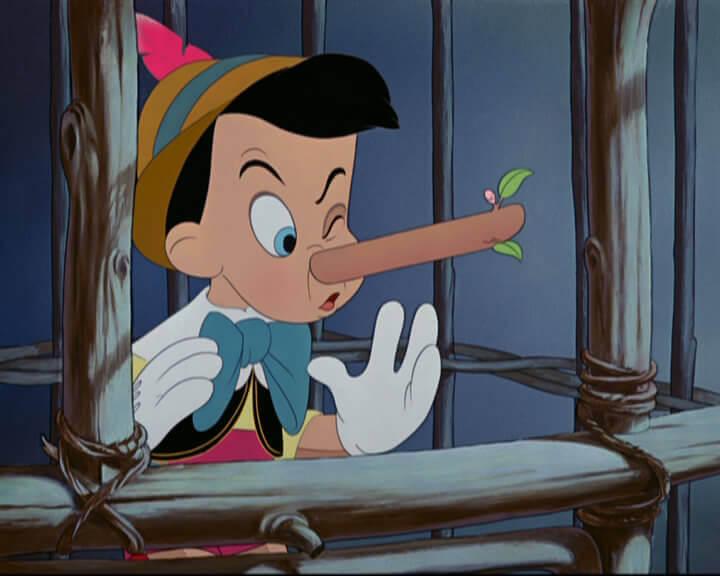 嘘をつくピノキオ