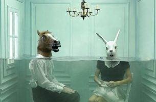 馬とウサギ