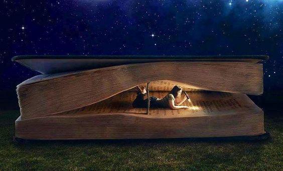 本の中で読書をする