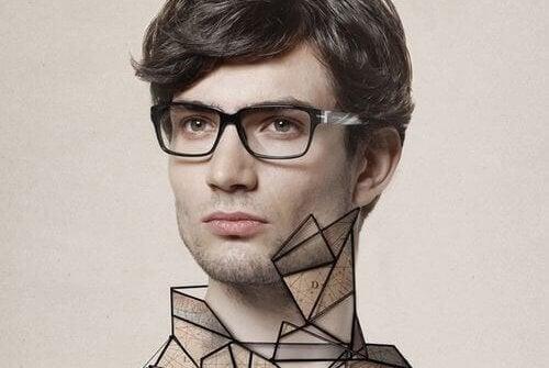 メガネの男性