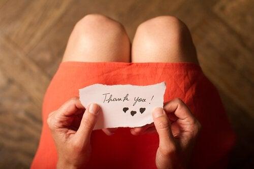 感謝の気持ちを表す