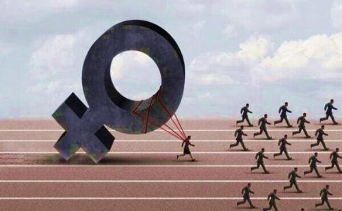 性差別的な世界で競い合う女性