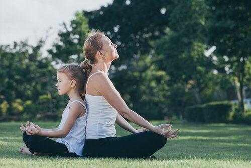 親子で瞑想