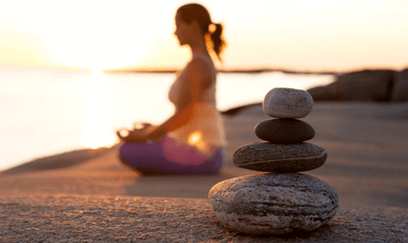 瞑想によってストレスレベルが下がる