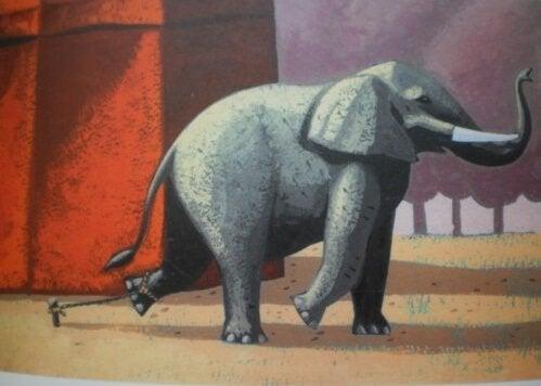鎖につながれたゾウの美しい話