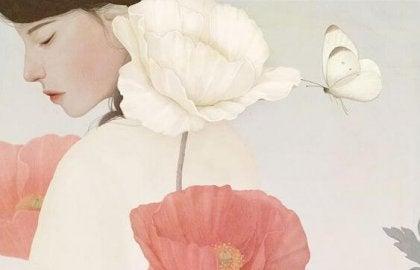 花と蝶と人