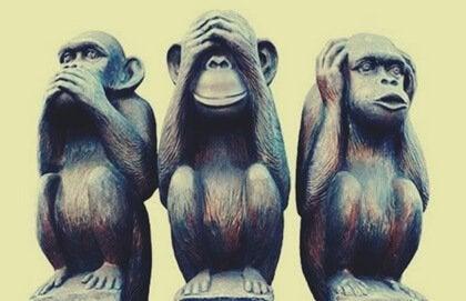 幸せな人生を送るための三猿