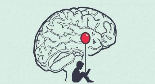 脳と赤い風船