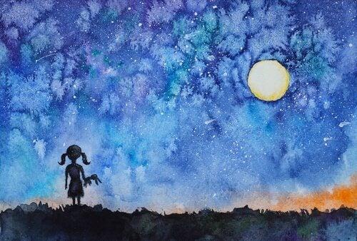 夜空を見て、内なる光を見つけ出した少女の物語
