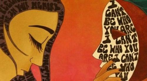 マスクと女性