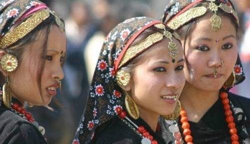 ネパールの少女