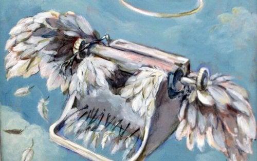 タイプライターと羽