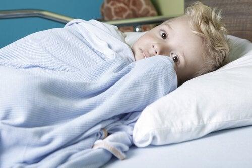 病気の子供