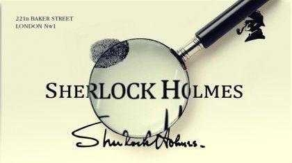 シャーロックホームズ 思考