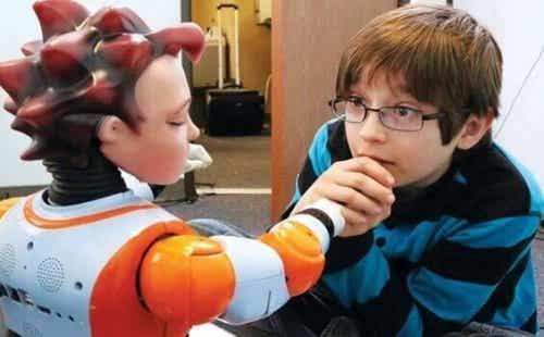 ロボットと自閉症の子供達